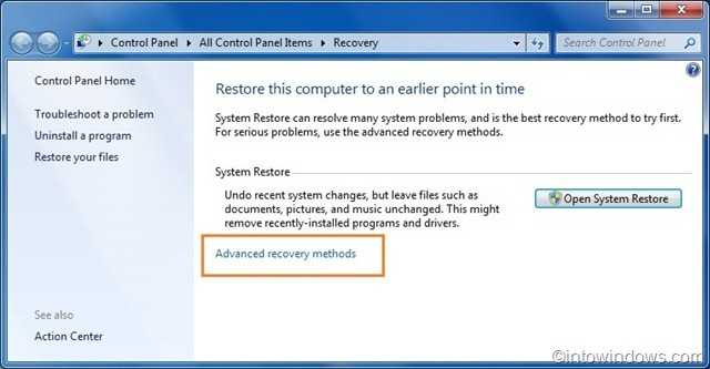 how to reinstall windows 7 online