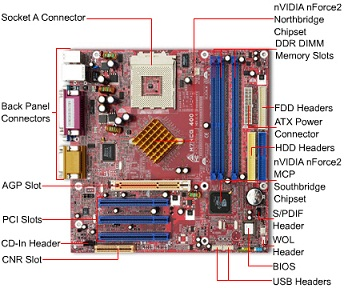 Labeled Motherboard Diagram - Schematic Diagram Database on